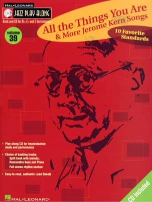 Jerome Kern - Jazz play-along volume 39 - All The Things You Are - Sheet Music - di-arezzo.co.uk