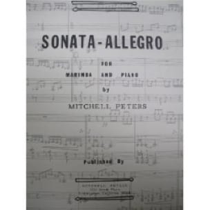 Sonata - Allegro Mitchell Peters Partition Marimba - laflutedepan
