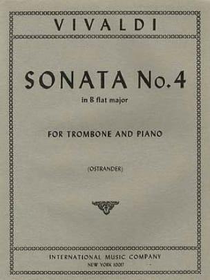 Sonate N°4 en Sib Majeur VIVALDI Partition Trombone - laflutedepan