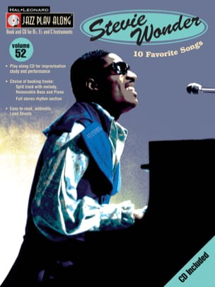 Stevie Wonder - Jazz play-along volume 52 - Stevie Wonder - Partition - di-arezzo.fr