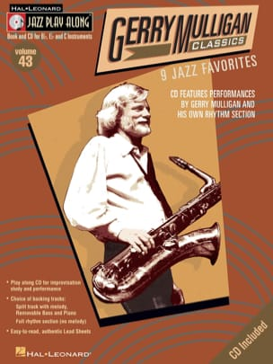 Gerry Mulligan - Jazz play-along volume 43 - Gerry Mulligan Classics - Partition - di-arezzo.fr