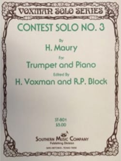 Contest Solo N° 3 H. Maury Partition Trompette - laflutedepan