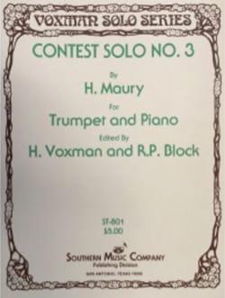 H. Maury - Contest Solo N ° 3 - Sheet Music - di-arezzo.com