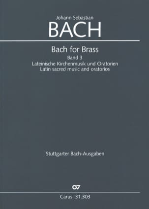 BACH - Bach for Brass Band 3 - Latin Sacred Music And Oratorios - Sheet Music - di-arezzo.co.uk