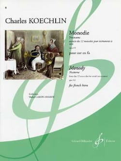 Charles Koechlin - Monodie - Nocturne Opus 213 - Partition - di-arezzo.co.uk