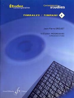 Jean-Pierre Drouet - 4-18 Progressive Studies - Contemporary Timpani Studies 4 - Sheet Music - di-arezzo.com