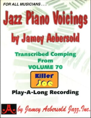 Jazz Piano Voicing Volume 70 METHODE AEBERSOLD Partition laflutedepan