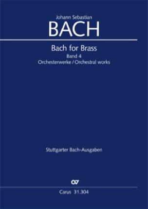 BACH - Bach for brass Band 4 - Orchesterwerke - Sheet Music - di-arezzo.co.uk