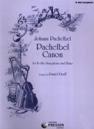 Pachelbel Canon Johann Pachelbel Partition Saxophone - laflutedepan