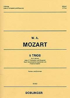 5 Trios - MOZART - Partition - Cor - laflutedepan.com