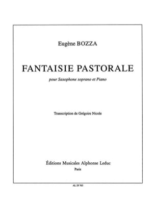 Eugène Bozza - Pastoral fantasy - Sheet Music - di-arezzo.com