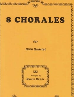 8 Chorales For Horn Quartet BACH Partition Cor - laflutedepan