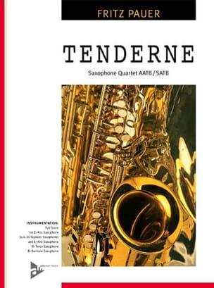 Tenderness Fritz Pauer Partition Saxophone - laflutedepan