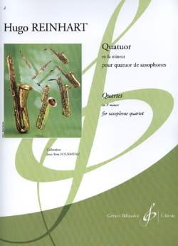 Hugo Reinhart - Quatuor En Fa Mineur - Partition - di-arezzo.fr