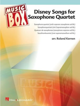 - Disney songs for saxophone quartet - music box - Sheet Music - di-arezzo.co.uk