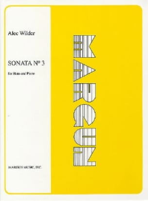 Alec Wilder - Sonata N° 3 - Partition - di-arezzo.fr