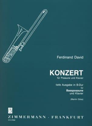 Konzert For Bass Trombone - Ferdinand David - laflutedepan.com