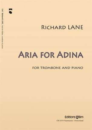 Aria For Adina Richard Lane Partition Trombone - laflutedepan