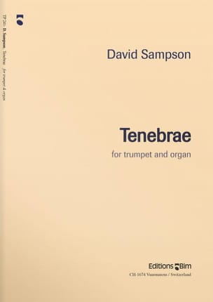 David Sampson - Tenebrae - Partition - di-arezzo.fr