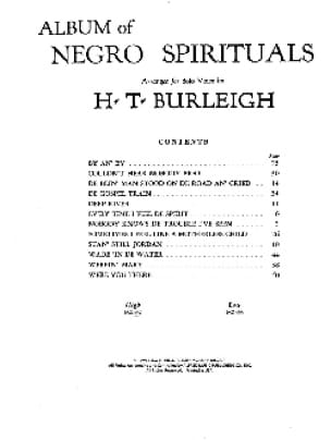 Album Of Negro Spirituals - High Voice Partition Jazz - laflutedepan
