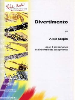 Divertimento Alain Crepin Partition Saxophone - laflutedepan