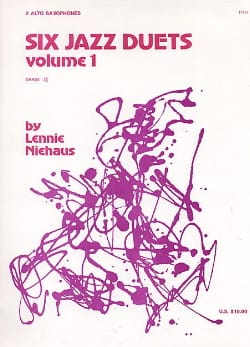 Six Jazz Duets Volume 1 Lennie Niehaus Partition laflutedepan