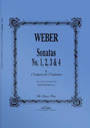 Sonatas N° 1, 2, 3 & 4 Weber Partition laflutedepan