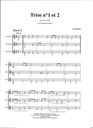 Trios N° 1 et Trio N° 2 - Eric Hulin - Partition - laflutedepan.com