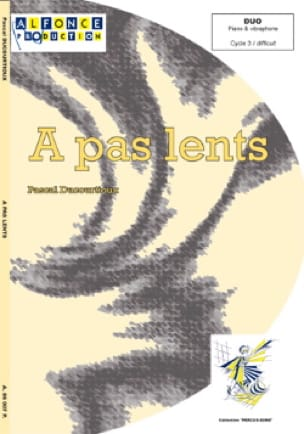 Pascal Ducourtioux - A Pas Lents - Partition - di-arezzo.fr