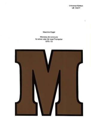 Morceau de Concours - Mauricio Kagel - Partition - laflutedepan.com
