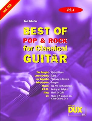 - Best of pop & rock for classical guitar volume 4 - Partition - di-arezzo.fr