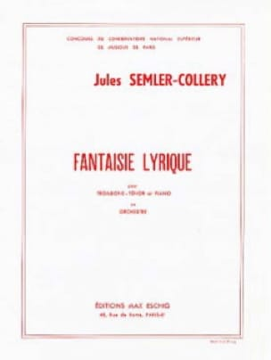 Fantaisie Lyrique Jules Semler-Collery Partition laflutedepan