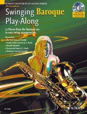 Swinging Baroque Play-Along Partition Saxophone - laflutedepan