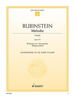 Anton Rubinstein - Melody Opus 3/1 - Sheet Music - di-arezzo.com