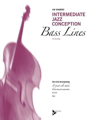 Jim Snidero - Intermediate Jazz Design - 15 Great Solo Etudes - Bass Line - Sheet Music - di-arezzo.com