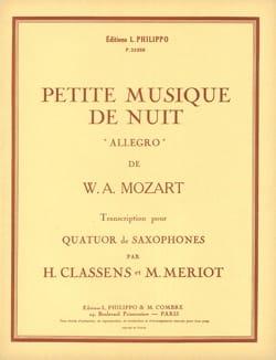 Petite Musique de Nuit Allegro MOZART Partition laflutedepan