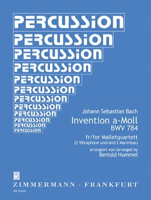 Invention A-Moll BWV 784 For Mallet Quartet BACH laflutedepan