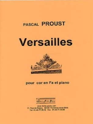 Pascal Proust - Versailles - Sheet Music - di-arezzo.com