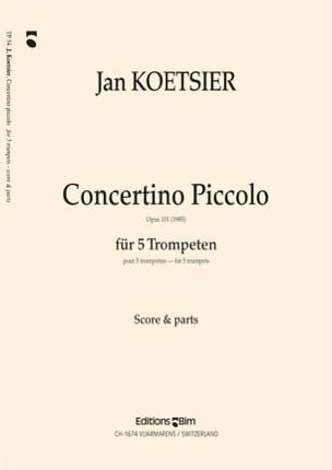 Concertino Piccolo Opus 101 Jan Koetsier Partition laflutedepan