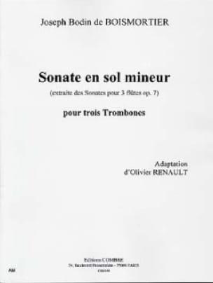 BOISMORTIER - Sonate En Sol Mineur - Partition - di-arezzo.fr