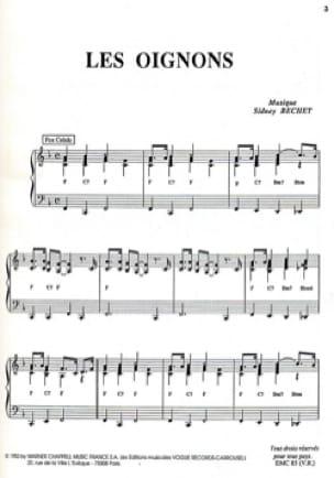 Les Oignons Sidney Bechet Partition Jazz - laflutedepan