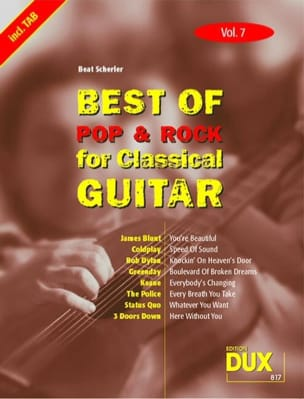 - Best of pop - rock for classical guitar volume 7 - Sheet Music - di-arezzo.co.uk