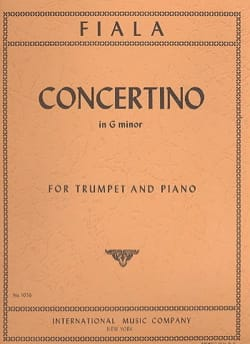 Joseph Fiala - Concertino In G Minor - Partition - di-arezzo.fr