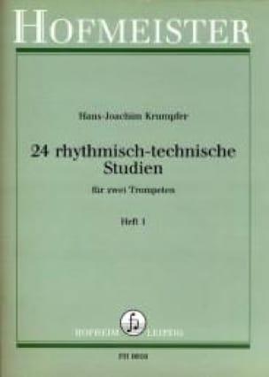 Hans-Joachim Krumpfer - 24 Rhythmisch-Technische Studien Heft 1 - Partition - di-arezzo.fr