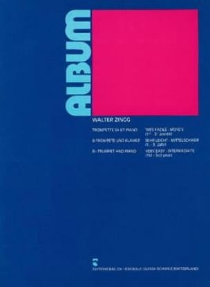 Album - Walter Zingg - Partition - Trompette - laflutedepan.com