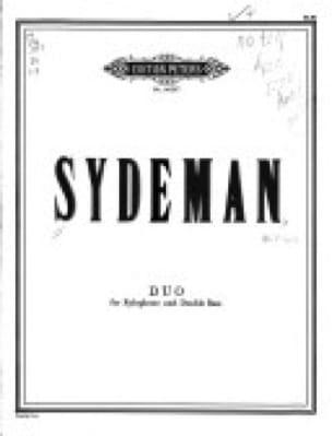 William Sydeman - Duo - Partition - di-arezzo.fr
