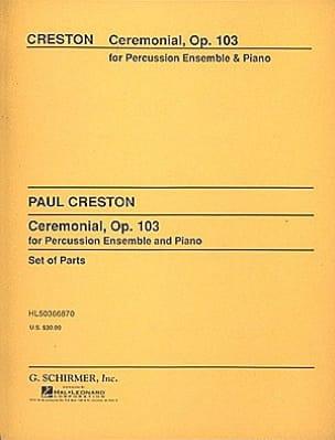 Ceremonial Opus 103 - Paul Creston - Partition - laflutedepan.com