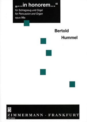 Berthold Hummel - In Honorem... - Partition - di-arezzo.fr