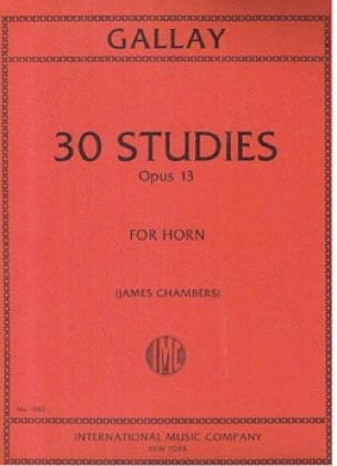 Thirty Studies Opus 13 - Jacques-François Gallay - laflutedepan.com