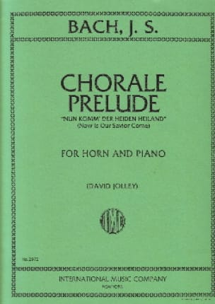 BACH - Chorale Prelude For Horn - Partition - di-arezzo.fr